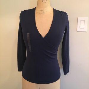 Ann Taylor Petites faux wrap sweater
